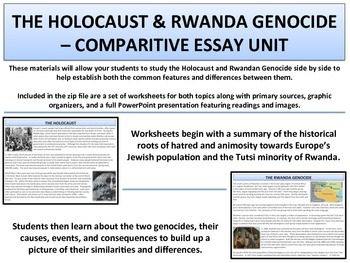 Topics For Synthesis Essay The Holocaust  The Rwanda Genocide  Essay Unit Learning English Essay Example also English Essay Papers The Holocaust  The Rwanda Genocide  Essay Unit By Mrgrayhistory Reflective Essay On High School
