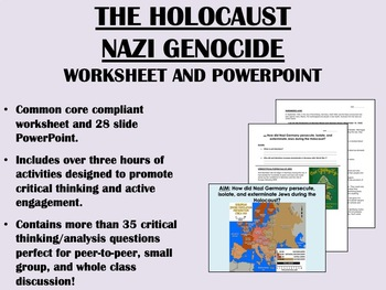 The Holocaust - Worksheet and PowerPoint - Global/World Hi