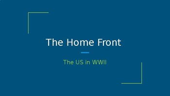 The Home Front WWII