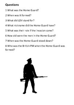 The Home Guard Handout