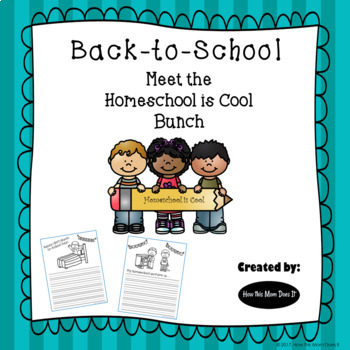 The Homeschool Is Cool Bunch - Back-to-School Writing Journal