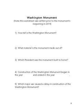 The Homeschool Kid's Book of Field Trip Worksheets Destination: Washington, D.C.