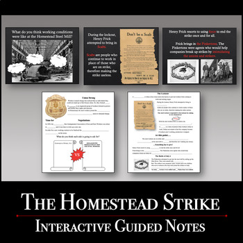 The Homestead Strike Power Point & Guided Notes