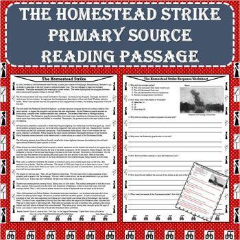 The Homestead Strike Primary Source Reading Passage - Progressive Movement Era