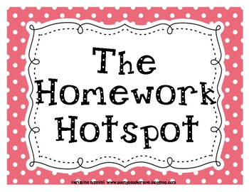 The Homework Hangout and The Homework Hotspot Printable Sign