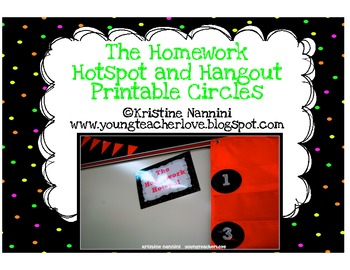 The Homework Hotspot Hangout Homework Management System Printable Number Circles