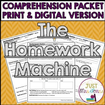 The Homework Machine Comprehension Packet