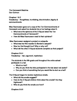The Homework Machine Discussion Questions