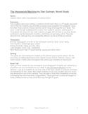 The Homework Machine: Novel Study