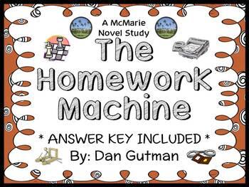 The Homework Machine (Dan Gutman) Novel Study / Reading Comprehension