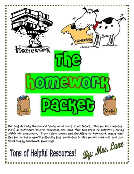 The Homework Packet (TONS of Homework Resources!)