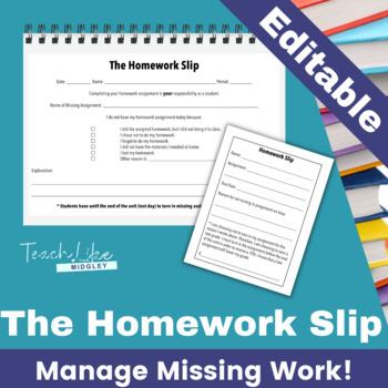 The Homework Slip