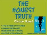 The Honest Truth Choice Board Novel Study Activities Book