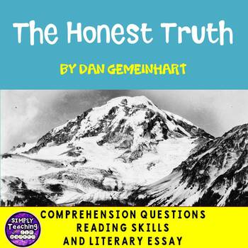 The Honest Truth by Dan Gemeinhart reading and writing skills plus BOOM CARDS
