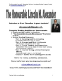 The Honorable Lincoln M. Alexander: Canadian Black History