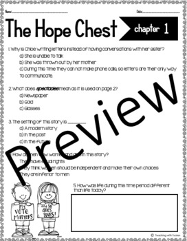 The Hope Chest: Chapters 13-15