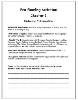 The Hope Chest by Karen Schwabach Novel Study
