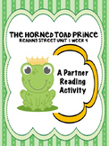 The Horned Toad Prince Partner Read  Reading Street 4th grade centers group work