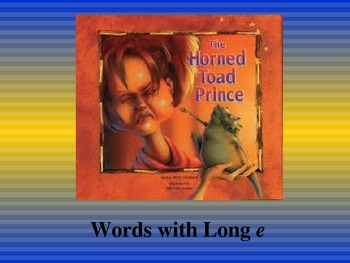 The Horned Toad Prince: Spelling PowerPoint