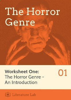 The Horror Genre - An Introduction Worksheet