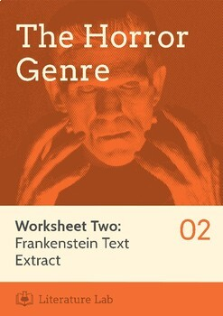 Frankenstein teaching resources teachers pay teachers the horror genre frankenstein text extract worksheet fandeluxe Image collections