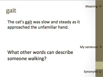The Horse Snake Vocabulary -- Holt McDougal Literature 6th grade (PPT)