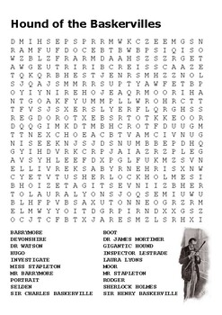 The Hound of the Baskervilles Word Search