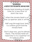 The Hour Race: A Time to the Quarter and Half Hour Poem