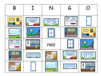 The House BINGO -  ESL Vocabulary