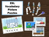 The House – ESL Puzzle Strips Vocabulary Activity