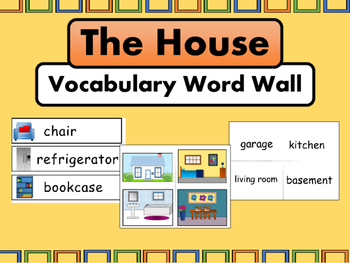 The House ESL Vocabulary Word Wall