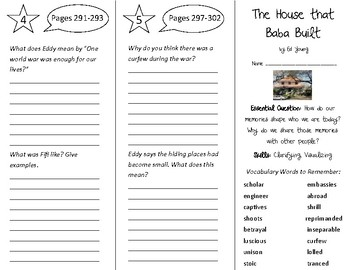 The House That Baba Built Trifold - Open Court 5th Grade Unit 3 Lesson 4