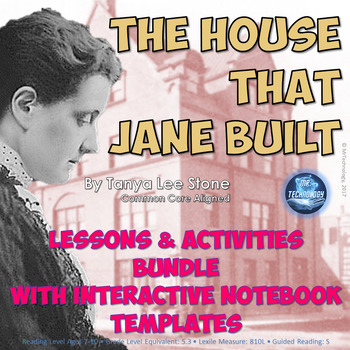 The House That Jane Built Interactive Notebook Reading Lessons and Activities