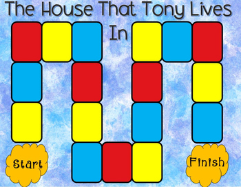 The House That Tony Lives In Comprehension Game Kindergarten