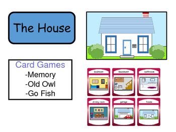 The House Vocabulary ESL Card Games