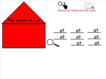 House of At: at word family for SMARTboard