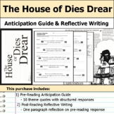 The House of Dies Drear - Anticipation Guide & Reflection Writing