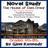 The House of Dies Drear Novel Study and Project Menu; Plus Digital Option