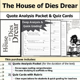 The House of Dies Drear - Quote Analysis & Reading Quizzes
