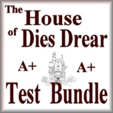 The House of Dies Drear Test and Quiz Bundle Common Core Aligned