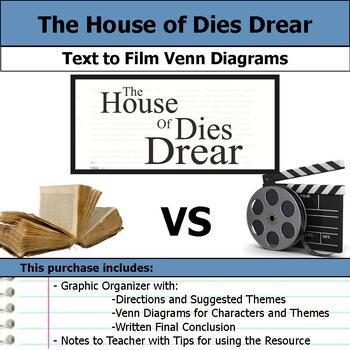 The House of Dies Drear - Text to Film Venn Diagram & Written Conclusion