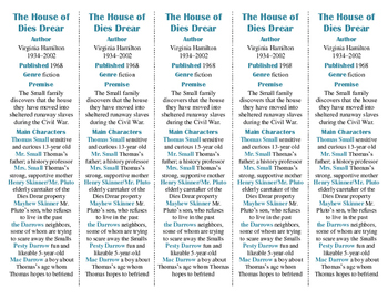 The House of Dies Drear edition of Bookmarks Plus—Handy Reading Aid!