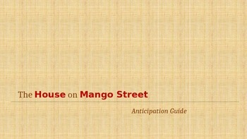 The House on Mango Street Anticipation Guide (PowerPoint Version)