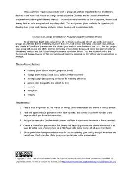 The House on Mango Street Literary Analysis Group Presentation Project