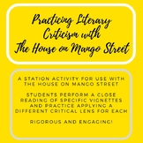 The House on Mango Street Literary Criticism Station Activity