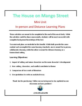 the house on mango street mini unit in person and
