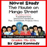 The House on Mango Street Novel Study +  Project Menu
