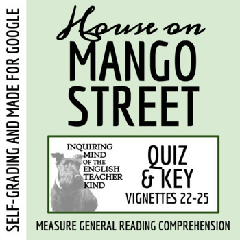 The House on Mango Street Quiz - Sections 22-25