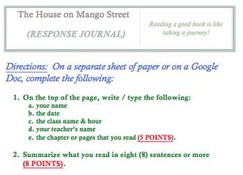 The House on Mango Street (RESPONSE JOURNAL)