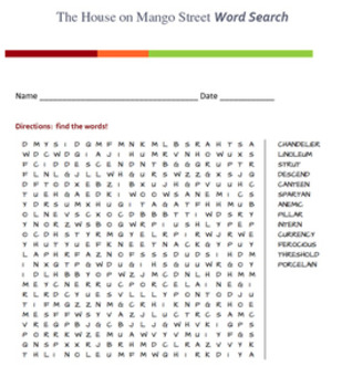 The House on Mango Street Word Search